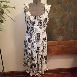 Donna Ricco Silk Floral Sleeveless Dress - Sz 10